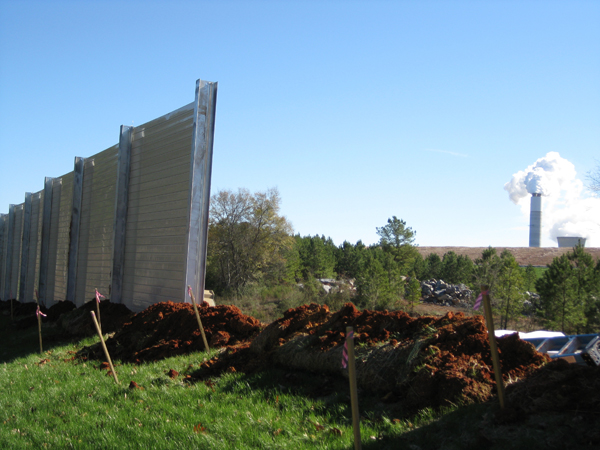 Sound Barrier Wall Power Plant Expansion